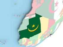 Мавритания с флагом иллюстрация штока