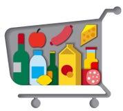 Магазинная тележкаа с едой Стоковые Изображения RF