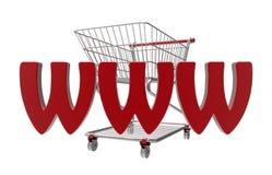 Магазинная тележкаа интернета Стоковая Фотография