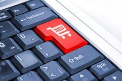 Магазинная тележкаа и электронная коммерция Стоковое фото RF