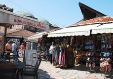 Магазины в Bascarsija, Сараеве стоковое изображение rf