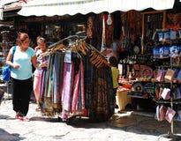 Магазины в Bascarsija, Сараеве стоковые фото