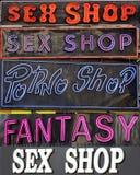 магазины секса paris Стоковое Изображение