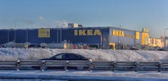 Магазины IKEA в зиме Стоковая Фотография