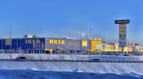 Магазины IKEA в зиме Стоковые Фотографии RF