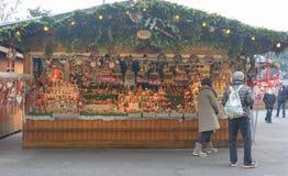 Магазин Австрия рождественской ярмарки вены стоковая фотография