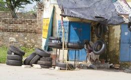 Магазин автошины Стоковая Фотография RF