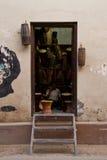 Магазин барабанчика, Катманду, Непал Стоковое Изображение