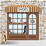 Магазин ботинок иллюстрация штока