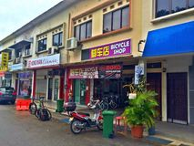 Магазин велосипеда в Сингапуре Стоковое Фото