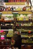 Магазин вина итальянский Стоковое фото RF