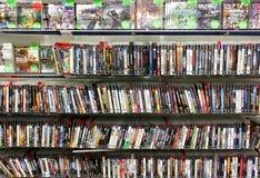 Магазин видеоигр стоковые изображения