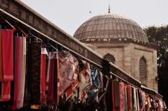 Магазин вуалей в Стамбуле, Турции стоковое изображение