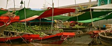 Магазин в перепаде Меконга, Вьетнам арбуза Стоковое фото RF