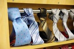 магазин галстука s людей Стоковая Фотография