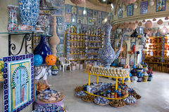 магазин гончарни африканца внутренний Стоковые Фото