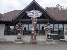 Магазин города сувенира в Ниагарском Водопаде, Канаде Стоковые Изображения RF