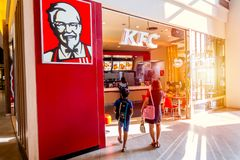 Магазин жареной курицы KFC Кентукки Стоковое фото RF
