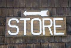 магазин знака стоковая фотография