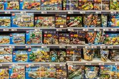 Магазин игрушек Lego Стоковое Изображение RF