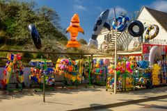 Магазин игрушки Песк-пляжа погиба стоковые изображения rf