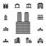 магазин иконы Простая иллюстрация элемента Дизайн символа магазина от комплекта собрания зданий Смогите быть использовано для сет Стоковые Изображения RF