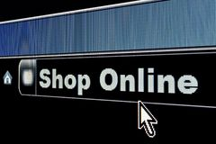 магазин интернета принципиальной схемы он-лайн стоковая фотография rf