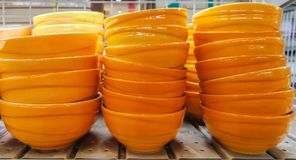 Магазин, искусство, искусство и ремесло, базар, апельсин, керамический, плита стоковое фото rf