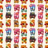 магазин картины рынка шаржа автомобиля безшовный Стоковые Фотографии RF