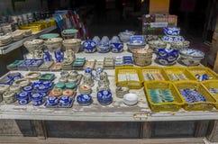Магазин керамики в Hoi, Вьетнаме Стоковая Фотография RF