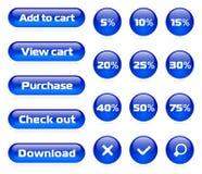 магазин комплекта кнопки он-лайн бесплатная иллюстрация