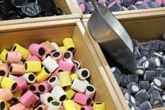 Магазин конфеты с конфетами и лакрицей стоковая фотография