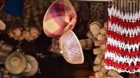 Магазин корзин Много вид корзины которое сделано бамбука wicker корзины handmade тайский Сплетенная бамбуковая текстура Стоковые Фотографии RF