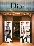 Магазин Кристиана Dior Стоковые Изображения RF