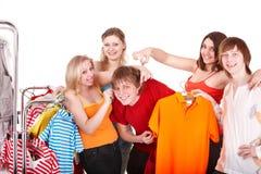 магазин людей группы одежды Стоковые Фото