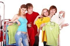 магазин людей группы одежды Стоковые Фотографии RF