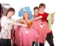 магазин людей группы одежды Стоковая Фотография RF