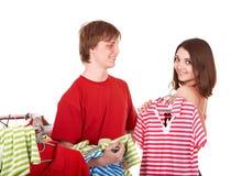 магазин людей группы одежды Стоковые Изображения