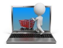 магазин людей интернета 3d малый иллюстрация штока