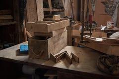 Магазин Марокко Woodworking стоковое изображение rf