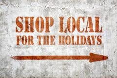 Магазин местный для граффити праздников стоковые изображения