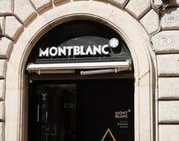 Магазин Монблана снаружи стоковая фотография