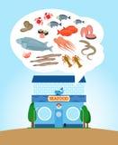 Магазин морепродуктов Стоковое Изображение RF