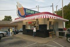 Магазин мороженного ферзя молокозавода Стоковые Фото