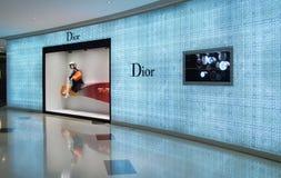 Магазин моды Dior в Китае стоковая фотография rf