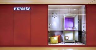 Магазин моды Hermes в Китае стоковые фотографии rf