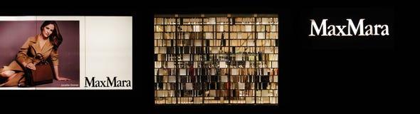 Магазин моды MaxMara стоковое изображение