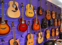Магазин музыки - гитары Стоковое Изображение RF