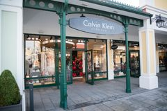 Магазин нижнего белья Calvin Klein в Parndorf, Австрии Стоковое фото RF
