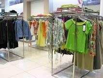 магазин одежд Стоковая Фотография